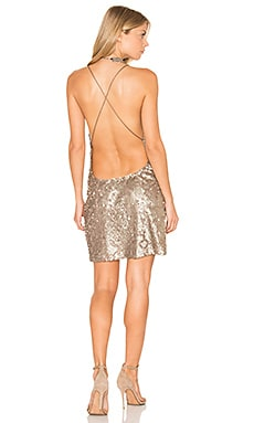 Purpura Dress in Antique Gold Glitter Sequin
