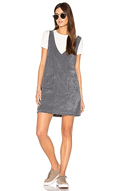 Bridget Pinafore Dress in Grey Mega Cord