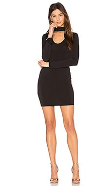 Nymphea Bodycon Dress in Schwarz