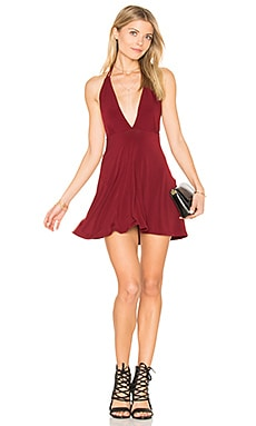 Caltry Dress in Burgundy