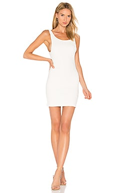 Mergy Dress in White Bubble Stretch