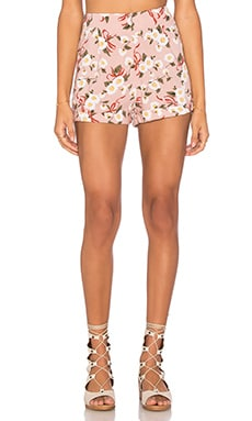 Motel Merick Short in Pink Daisy Ribbon