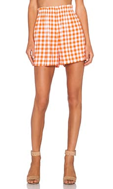 Motel Gawa Short in Orange Prairie Gingham