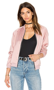 Satin Bomber Jacket in Dusky Pink