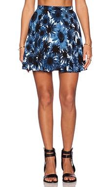 Motel Simone Skater Skirt in X Ray Floral