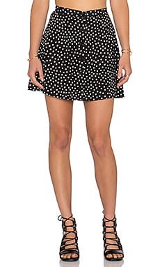 Motel Andrea Skirt in Black Ditsy Polka