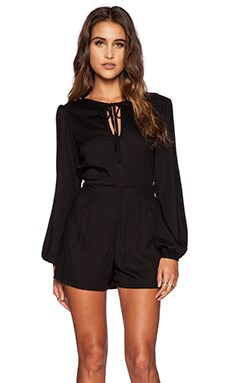 Motel Hippie Playsuit in Black