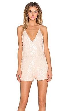 Vanille Playsuit en Antique Gold Sequin