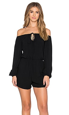 Motel Teegan Romper in Black