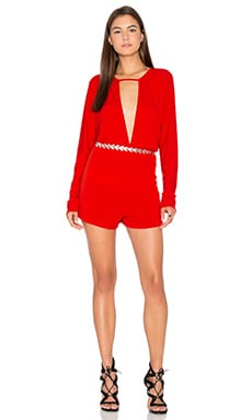 Motel Tonya Romper in Red
