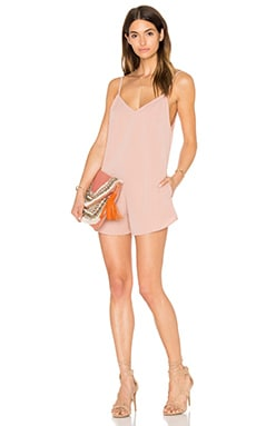 Motel Anthro Romper in Dusky Pink