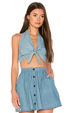 Meso Halter Tank in Chambray