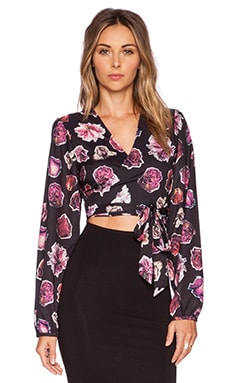 Motel Nero Wrap Top in Dried Roses