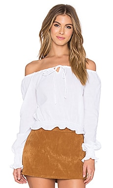 Motel Rafel Top in White