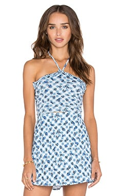 Hartley Top in Blue Ditsy Gingham