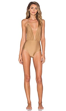 Motel Jagger One Piece Swimsuit in Gold
