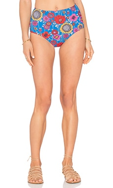 Motel Gebera Bikini Bottom in Blue Flower Power
