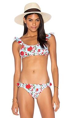 Motel Eldon Bikini Top in Garden Posey