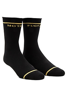 The Bobby Socks and Gold in Schwarz