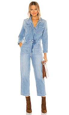 The Half Spring Take-Off Ankle Jumpsuit MOTHER $375 NEW