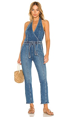 The Halter Hustler Jumpsuit Ankle MOTHER $350 NEW