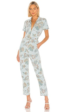 The Zip Up Short Sleeve Jumpsuit MOTHER $147