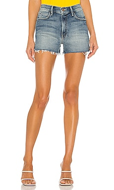 High Waisted Rascal Slit Fray Short MOTHER $188