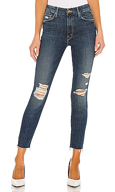 High Waisted Looker Ankle Fray MOTHER $160