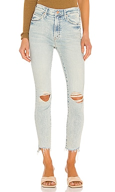 The Stunner Zip Ankle Step Fray MOTHER $248