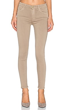 MOTHER Just For Kicks High Waist Looker in Taupe