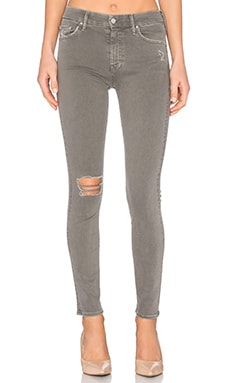 MOTHER High Waisted Looker in French Grey