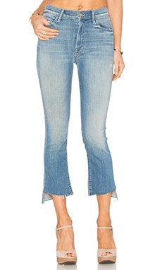 JEANS CROPPED INSIDE CROP STEP FRAY