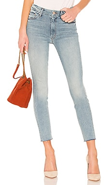 High Waisted Looker Ankle Fray MOTHER $149