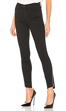 JEAN SKINNY STUNNER DOUBLE ZIP MOTHER $153
