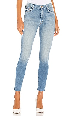 High Waisted Looker Ankle Fray MOTHER $228