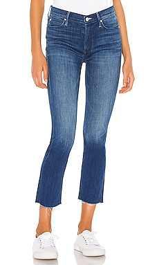 The Mid Rise Dazzler Crop Fray MOTHER $228