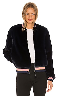 The Letterman Faux Fur Jacket MOTHER $210