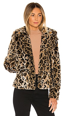 The Mini Pocket Rider Faux Fur Jacket MOTHER $212