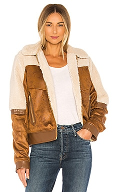 Faux Fur & Vegan Leather The Trapper Keeper Jacket MOTHER $375
