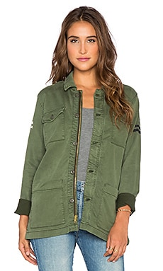 MOTHER The Cargo Jacket in Military Green
