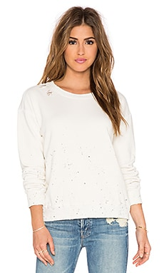 MOTHER The Big Easy Sweatshirt in Dirty White