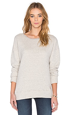 MOTHER The Straight A Sweatshirt in Heather Grey