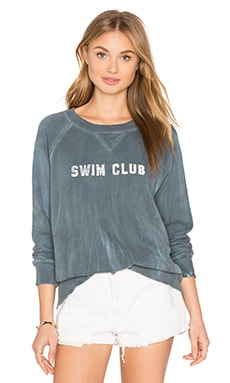 MOTHER The Square Sweatshirt in Swim Club