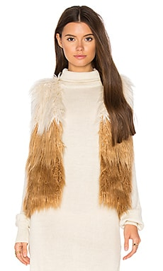 Tri Faux Fur Vest in Tri Color