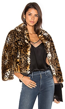 The Boxy Crop Faux Fur Jacket