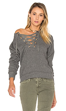 The Tie Up Easy Sweatshirt in Charcoal Grey