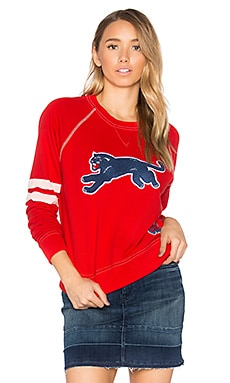 The Super Square Second Base Sweatshirt in Red