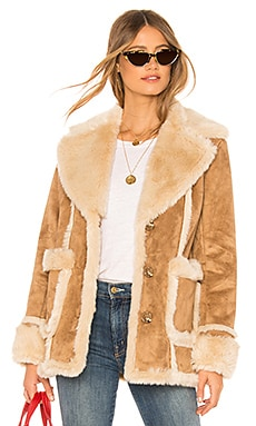 The Faux Fur Patch Pocket Trapper MOTHER $287