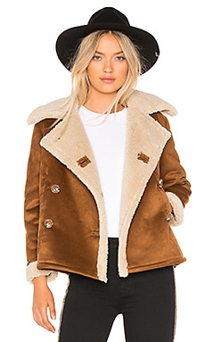 The Faux Sherpa Shrunken Peacoat MOTHER $345