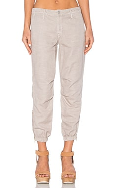 MOTHER The Misfit Crop in Stone Khaki